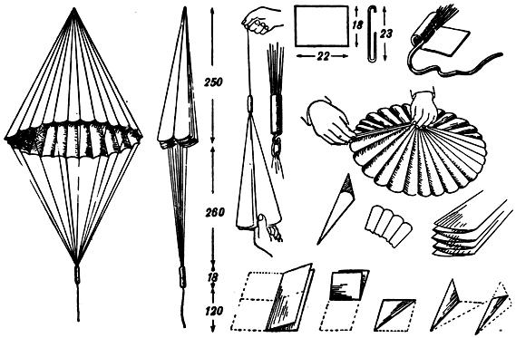 Как сделать парашют для солдатика